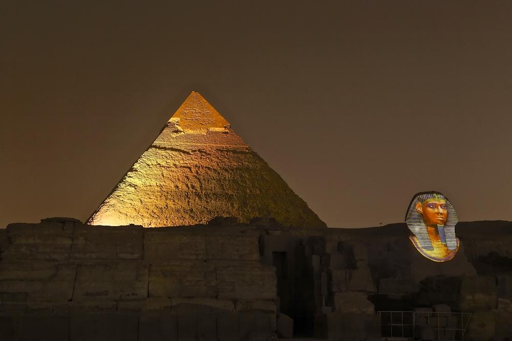 giza pyramids sound and lightshow