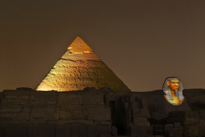 giza pyramids sound and lightshow